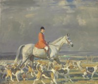 F.H. Prince and the Pau Foxhounds